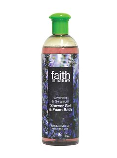 Faith in Nature Lavender & Geranium Shower Gel & Bath Foam - Body & Skin Care Calming and naturally soothing & relaxing. Gentle comfort for shower and bath. Natural Oils, Natural Skin Care, Cosmetics & Perfume, Aromatherapy Oils, Lavender Oil, Geraniums, Shower Gel, Calming, Eco Friendly