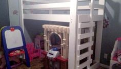 Free DIY Furniture Plans // How to Build a Queen Sized Low Loft Bunk Bed - The Design Confidential