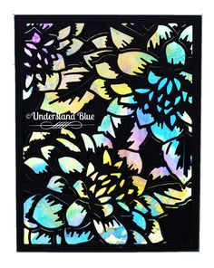 Lydia Fiedler:  Altenew Layered Floral Cover Die; Distress Oxide Ink background