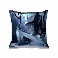 Artistic Chair Pillow Covers Home Sweet Design Moonlight Painting Decorative Photo Pillowcase for Couples Special Fantasy Cushion Cotton Cases * This is an Amazon Affiliate link. Click image for more details.
