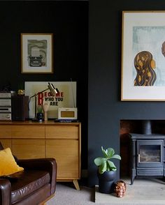 Interior designer Karen Knox has made a name for herself with her trademark dark and atmospheric rooms, get some dark living room ideas here