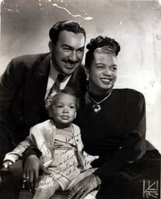 Adam Clayton Powell Jr. and his wonderful pianist wife Hazel Scott (who wasn't allowed to play her classical piano pieces at the white house during the Truman era. (guess why)) and Adam Jr.