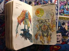 Number 271 & 272 of Kenneth Rocafort's 365 day sketch project.