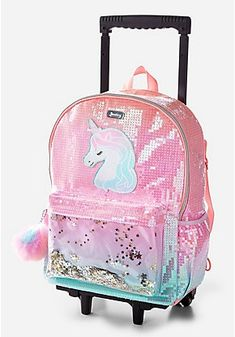 rolling backpacks for school Baby Girl Toys, Toys For Girls, Baby Dolls, Tween Girls, Girls Rolling Backpack, Cute Mini Backpacks, Girl Backpacks, Unicorn Bedroom Decor, Cute Suitcases