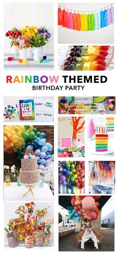 Inspiration for a Rainbow Themed Birthday Party - Carrie ColbertYou can find Rainbow birthday and more on our website.Inspiration for a Rainbow Themed Birthday Party -. Rainbow First Birthday, Colorful Birthday Party, First Birthday Themes, 1st Boy Birthday, 4th Birthday Parties, Birthday Ideas, Colorful Party, Themed Parties, Rainbow Party Decorations