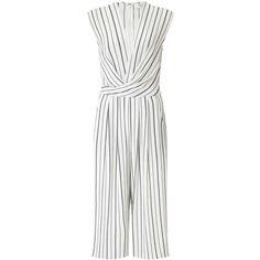 f07da7aa725 Miss Selfridge Stripe Wrap Culottes Jumpsuit ( 90) ❤ liked on Polyvore  featuring jumpsuits