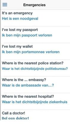 Emergencies - English/Dutch & http://www.appsting.com/apps/509072439-dutch-dictionary,-translator,-phrase-book-App