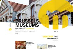 Acquire the most creative and the best concept of museum website design in this handpicked collection to reinforce your missions! Site Web Design, Website Designs, Ui Design, Innovative Websites, Organization Websites, Social Network Icons, Museum Island, Visual Hierarchy, Website Design Inspiration