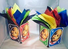 Items similar to Uno centerpieces on Etsy Sibling Birthday Parties, Boys First Birthday Party Ideas, 1st Birthday Party Invitations, Birthday Themes For Boys, Baby Boy 1st Birthday, Sons Birthday, 1st Boy Birthday, First Birthday Centerpieces, Uno Cards