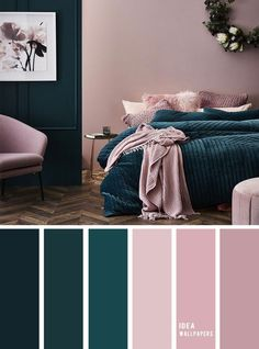 10 Best Color Schemes for Your Bedroom Deep ocean Teal Mauve , blush color palette, colo. 10 Best Color Schemes for Your Bedroom Deep ocean Teal Mauve , blush color palette, colour palette Best Color Schemes, Bedroom Color Schemes, Decorating Color Schemes, Best Bedroom Colors, Colour Schemes For Living Room, Diy Decorating, Apartment Color Schemes, Colors For Bedrooms, Interior Design Color Schemes