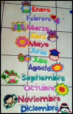 Meses                                                                                                                                                     Más Kindergarten Classroom, Classroom Themes, Crafts To Make, Crafts For Kids, Spanish Colors, Daycare Design, School Events, Teacher Favorite Things, Toddler Activities