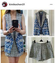 Outer Batik, Batik Blazer, Batik Kebaya, Batik Pattern, Batik Fashion, African Fashion, Shorts, Clothes, Dresses