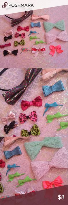 Variety of hair bows All in very good condition! Accessories Hair Accessories