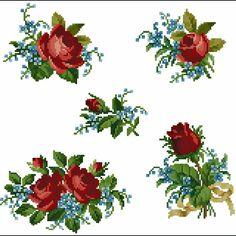"""Милые сердцу штучки: """"... и незабудок с розами и ромашками..."""" (обзор дизайнов и схем)"""