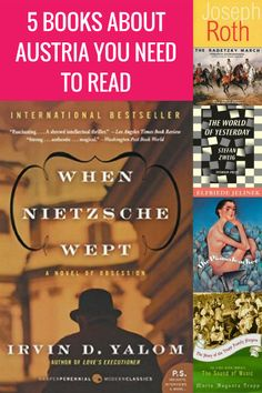 These five books about Austria will give you insight into the country's culture, history and great minds of gone-by times. All guaranteed interesting reads. Best Travel Books, Literary Travel, Travel Tips, Travel Plan, Travel Advice, Reading Lists, Book Lists, Reading Time, Books To Read
