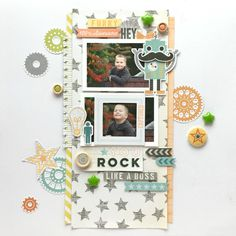#papercrafting #scrapbooking #layouts - You Rock by MaryAnnM at @studio_calico