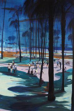 Jules de Balincourt, As Far West As We Could Go, 2014, Oil on wooden panel, 182.9 x 121.9 cm (72 x 48 in), Courtesy Galerie Thaddaeus Ropac, Paris/Salzburg