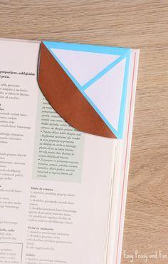 DIY Sailboat Corner Bookmark