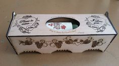 Laser engraved personalized wine box. by OzarkCustomEngravers. Great gift for Valentine's Day or Anniversary