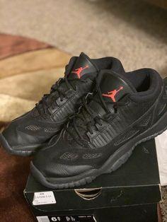 hot sale online 1b01b 7620c air jordan 11 retro low ie Black Sz 6.5  fashion  clothing  shoes