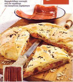 Εξαιρετική παστουρμαδόπιτα γεμάτη παράδοση Camembert Cheese, Ethnic Recipes, Food, Drink, Beverage, Essen, Meals, Yemek, Eten