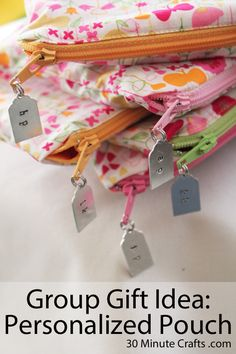 Group Gift Idea Personalized Pouches