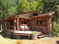 Lakeside sauna, views in Vancouver Island 'rare find'. Cabin retreat: The three-acre site combines lush gardens with 180 feet of water frontage for a serene and private setting.