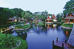 I'd like to put my feet up at Chiva-Som, Hua Hin, Thailand - the best Spa in the World.