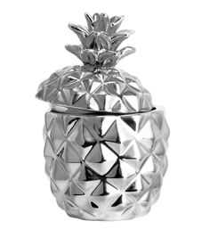 Check this out! Candle in pineapple-shaped ceramic holder with lid. Unscented. Diameter 2 1/4 in., height 3 3/4 in. Burn time 15 hours. - Visit hm.com to see more.