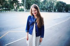 Sleep and shine Denim jacket by Monki Dress by IKKS