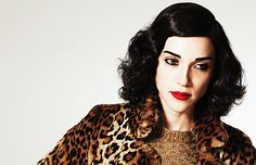 St Vincent. I love that she has dark eyes/brows with a bold red lip. Flawless hair too.