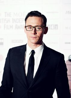Tom Hiddleston looking good in glasses