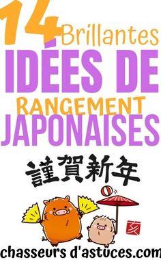 14 Brillantes Astuces De Rangement Japonaises. Vous le savez peut-être, mais le Japon est l'un des pays les plus densément peuplés au monde. Au Japon, chaque espace compte, aussi bien à l'extérieur qu'à l'intérieur.  C'est pourquoi leurs astuces de rangement sont très intéressantes quand on a peu d'espaces chez soi. Que vous viviez en appartement ou en maison, ces 14 astuces de rangement vous plairont forcément. #chasseursdastuces Activities, Fictional Characters, Design, Construction, Desserts, Storage, Animaux, Building, Tailgate Desserts