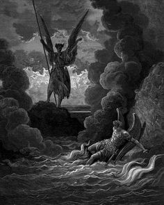 The illustrations from Paradise Lost: woodcuts by Gustave Doré.