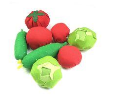 Felt Textile Vegetable Set Edu Toy Fabric Veggies For by Florfanka Felt Textile Vegetable Set #EduToy #FabricVeggies #ForKids #MontessoriToy #PretendFood #Tomato #Cucumber #Lettuce #KitchenDecor #DiningRoomDecor #FeltGarden