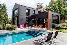 Черный домик у реки во Франции - Дизайн интерьеров | Идеи вашего дома | Lodgers