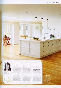 A feature on a beautiful bespoke kitchen from Martin Moore. http://www.martinmoore.com/ Essential Kitchen Bathroom Bedroom April 2016