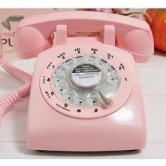1960s-Style-Pink-Retro-Old-Fashioned-Rotary-Dial-Telephone-PHONE-Metal-Ring-G