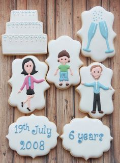Wedding anniversary portrait cookies by Miss Biscuit