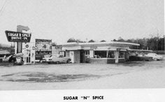 The Sugar 'n Spice on South Lee Hwy. In Cleveland, TN. A place where car hops were busy on Friday and Saturday nights. They had very good hotdogs! They served their meals on trays that mounted to your car window. We loaded up on supper before going to play Bingo at the nearby StarVue outdoor theater.