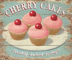 Cherry Cakes Freshly Baked Today!