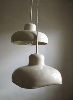 Ceramic light covers? Um, awesome. Miriam Aust