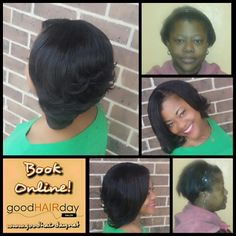 Full Sew In! Relaxed Style: Short Cut, Waves and Curls Relaxed Styles, Natural Styles, Keratin Treatments, Custom Color, Precision Cuts Book online!  www.goodhairday.net