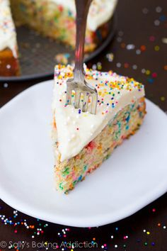 Readers have told me this is the BEST funfetti cake they've ever had. And it's 100% homemade AND easier than a box mix.