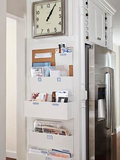 Make Your Rooms Work Harder: nice idea for organization on the side panel of a large cabinet or armoire