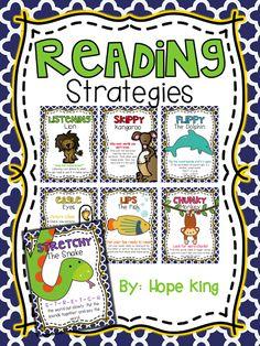 FREEBIE: Reading Strategies! Posters to help students decode unfamiliar words!