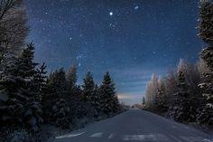 Finnish winter night