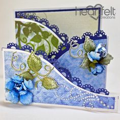 Heartfelt Creations - Blue Rose Foldout Card Project