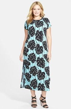MICHAEL Michael Kors 'Tropical Bay' Print Midi Dress (Plus Size) available at #Nordstrom