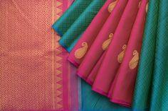 Kanakavalli Handwoven Kanjivaram Silk Sari 1020250 - Sari / Kanjivarams - Parisera